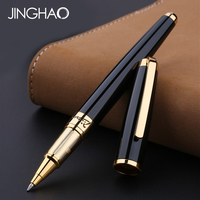Luxury Gold/Silver Clip Black Rollerball Pen Pimio 918 High end Business Office Metal Sign Pen Gift Writing Pens Stationery