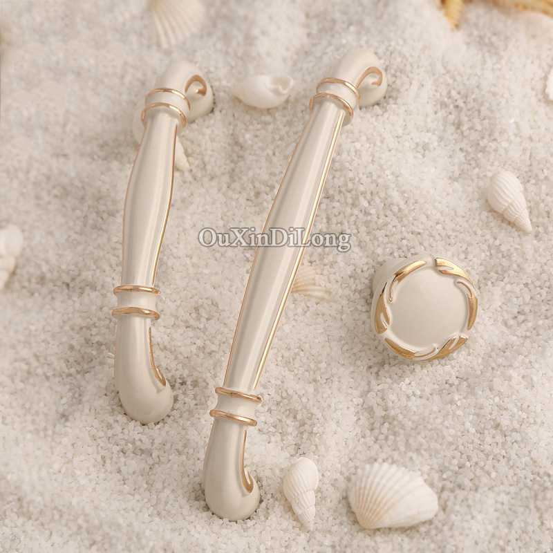 Elegant Style 10PCS European American Style Kitchen Door Furniture Handles Cupboard Drawer Wardrobe Cabinet Pull Handles & Knobs