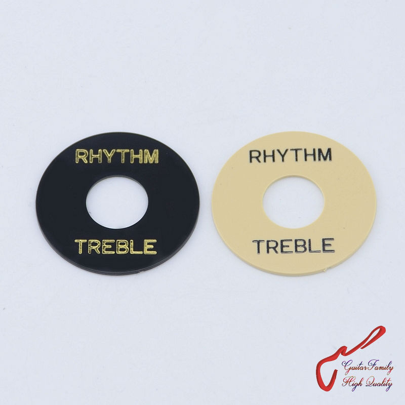 1 Piece GuitarFamily Electric Guitar Pickup Toggle Switch Rhythm / Treble Surround Ring Plate ( #0099 ) MADE IN KOREA