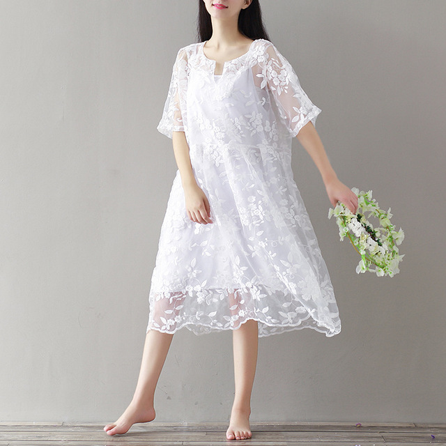 45190dfb0e 2PCS Lace Embroidery Women Dresses Maternity Dress for Pregnant Women  Pregnancy Women's Dress Clothing Mother Home Clothes