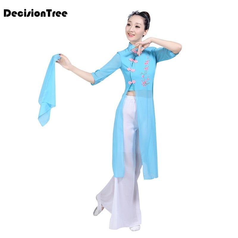 2019 Zomer Dans Kostuums Meisje Groep Dance Lotus Bloemen Bloeiende Chinese Klassieke Fairy Stage Performance Kostuums