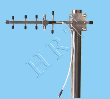 2.4 g exterior 5 elementos de acero inoxidable antena yagi 7 dBi wifi señal boost yagi antena de base