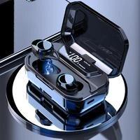 G02 TWS 5.0 Bluetooth Earphone Waterproof Earphones 3300mAh LED Smart Power Stereo Earphone Wireless Earphones IPX7