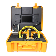 40M Drain Sewer Pipe Endoscope Borescope Inspection Video Camera System 7 inches meter counter DVR Recorder