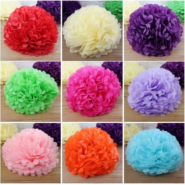 10pcslot 12inch30cm tissue paper pom poms balls tiffany blue wedding decorations