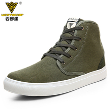 WEST SCARP Brand Plus Size 45 High Top Canvas Shoes Unisex Casual Lace Up Shoes High Quaity Women and Men Ankle Boots 8 Colors