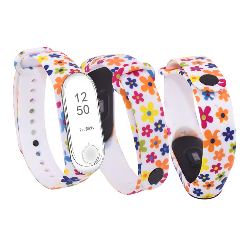 Image 2 - Replacement silicone wrist strap for Mi3 Mi4 smart bracelets Strap For Xiaomi Mi Band 3  watchband Wristband For Miband 4-in Smart Accessories from Consumer Electronics