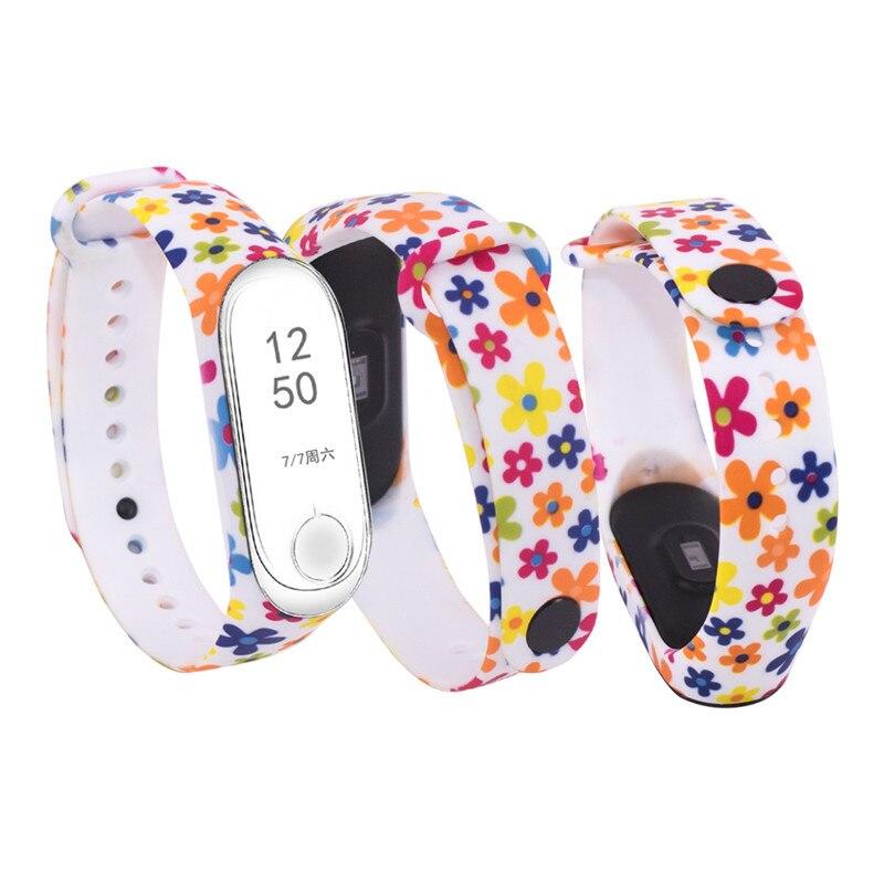 Image 2 - W celu uzyskania silikonowy pasek na nadgarstek dla mi 3 mi 4 inteligentne bransoletki pasek dla Xiao mi mi Band 3 pasek do zegarka na rękę dla mi zespół 4Inteligentne akcesoria   -