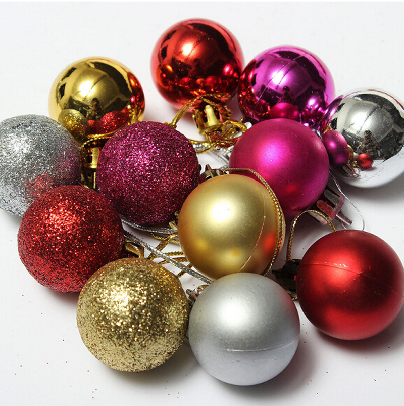 6 pcs lot christmas tree decor 5cm6cm8cm ball bauble hanging xmas party ornament decorations for home navidad new year in ball ornaments from home