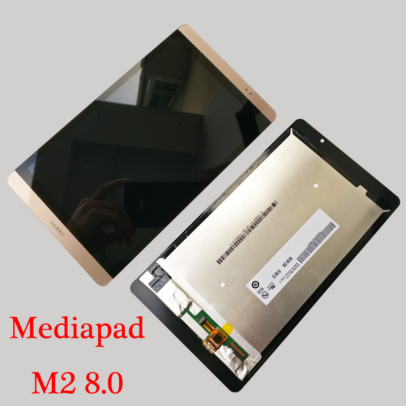 High Quality White Gold 8 0 inch LCD DIsplay Touch Screen Digitizer Assembly For Huawei Mediapad