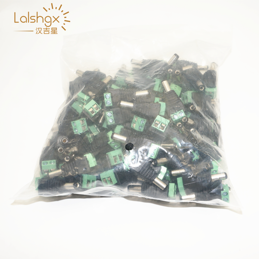 Wholesale 100pcs/LOT <font><b>DC</b></font> <font><b>Power</b></font> Male Jack <font><b>Connector</b></font> Plug <font><b>5.5mm</b></font> x 2.1mm For CCTV Camera LED Light image