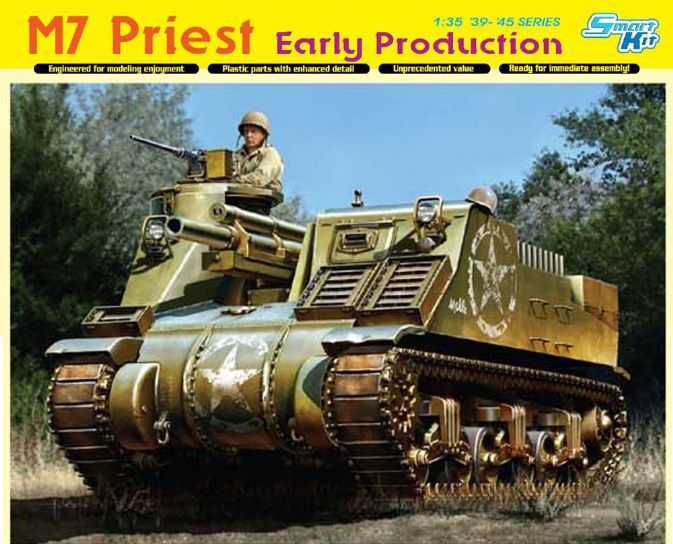 Dragon Model 6627 1/35 Scale M7 Priest Early Production
