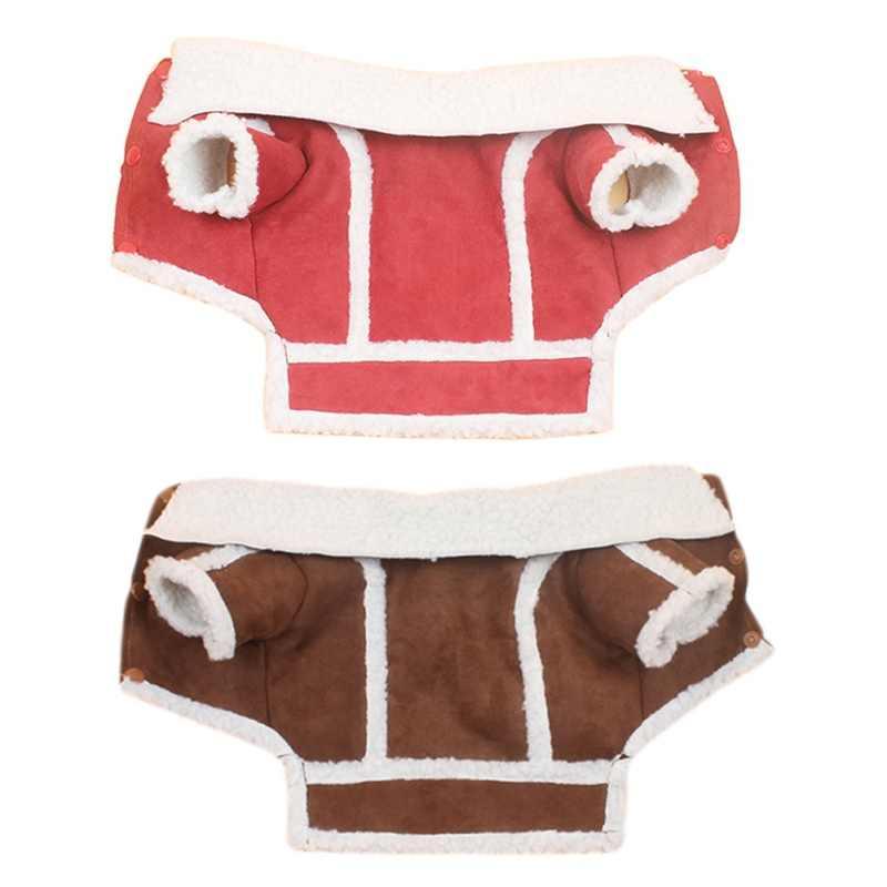 Зимняя теплая плюшевая одежда для куртки щенка курта для собак флисовая собачка локомотив жилет одежда для домашних животных Костюм Одежда
