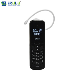 iRULU GT BM50 Unlocked Mini Mobile Phone Bluetooth Earphone Dialer 0.66 inch with Hands free GSM Support SIM Card Receiving SNS