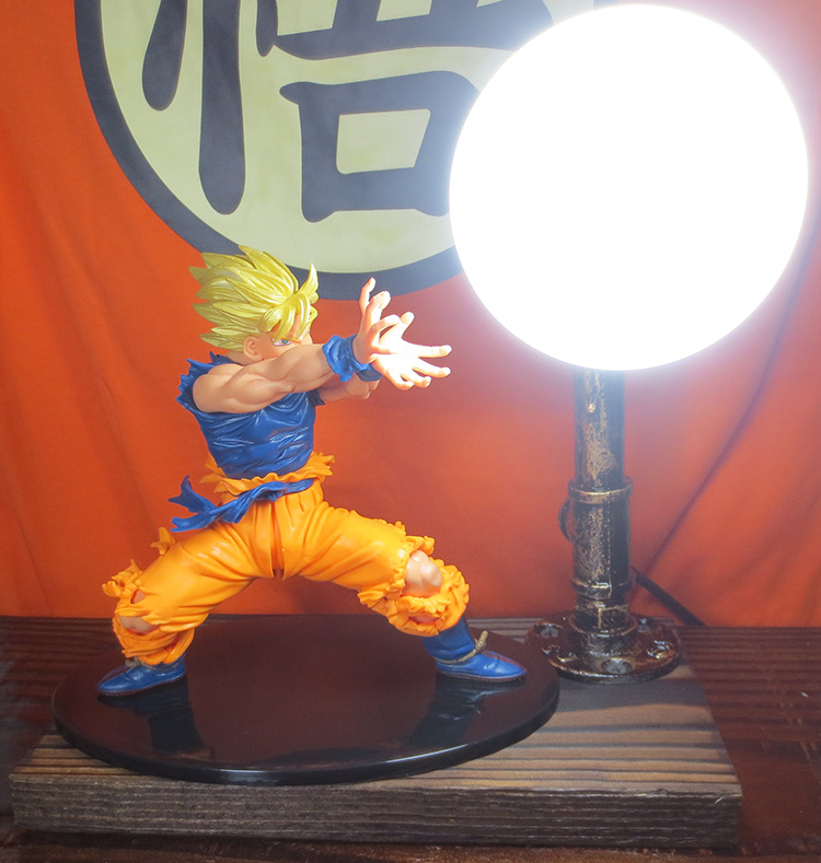 KNL HOBBY Dragon Ball LED desk lamp explosion models hand the Monkey King Eye Blaster led creative birthday gift free shipping