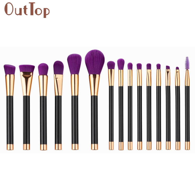 Best Deal OutTop Good Quality Women 15PCS Purple Nylon Hair Soft Make Up Foundation Powder Cosmetic Concealer Brushes Gift 1Set клей активатор для ремонта шин done deal dd 0365