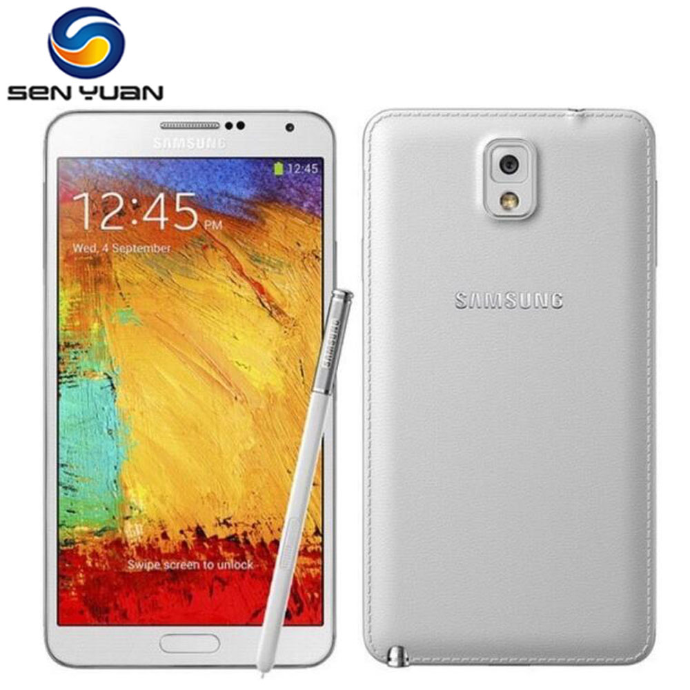 Samsung Galaxy Note 3 Unlocked 16gb 3GB 13MP Refurbished Cell-Phone N900 Original GPS