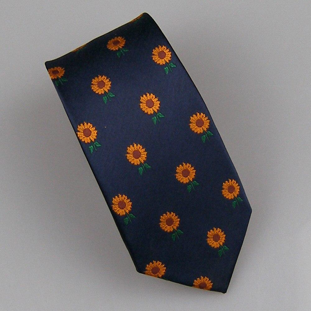 Bekleidung Zubehör Lammulin Krawatten New Design Herrenanzug Blau Mit Gelbe Sonnenblume Blume Jacquard Krawatte Mikrofaser Dünne Krawatte 7 Cm Gravata äRger LöSchen Und Durst LöSchen