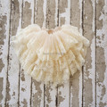 Adorable Baby Girl Lace Tutu Skirt,Flower Girl Ivory Skirt,Three Layers Pettiskirt,Skirt