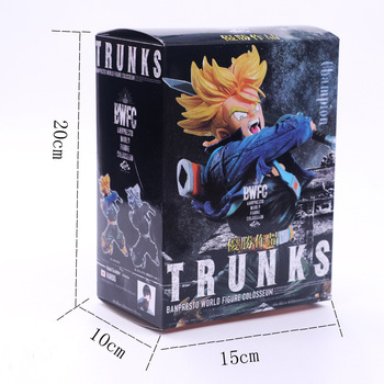 21cm Anime Dragon Ball Z Super Saiyan BWFC Trunks Jumping Action Figure Collection Toys