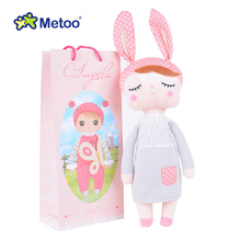 13 Inch Toy For Girls Metoo Plush Rabbit Bunny Soft Angela Reborn Babies Kawaii Dolls For Kids Children Christmas Birthday Gifts 1pcs new genuine 50cm metoo cartoon angela plush toys cute dolls girl for birthday christmas children gifts