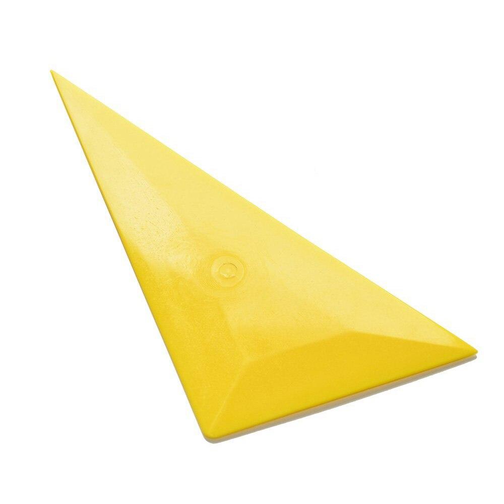 EHDIS Triangle Bulge Squeegee Ice Scraper Window Tint Tool Yellow Corner Car Clean Squeegee Vinyl Film Car Wrap Sticker Tools
