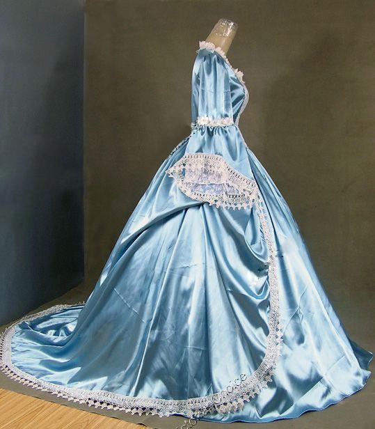 Gratis verzending Marie Antoinette Gothic Victoriaanse baljurk - Jurken voor bijzondere gelegenheden - Foto 3