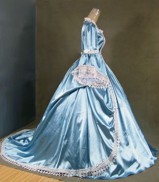 Marie Antoinette Gothic Victorian Ball Gown Wedding Party Dress -in ...