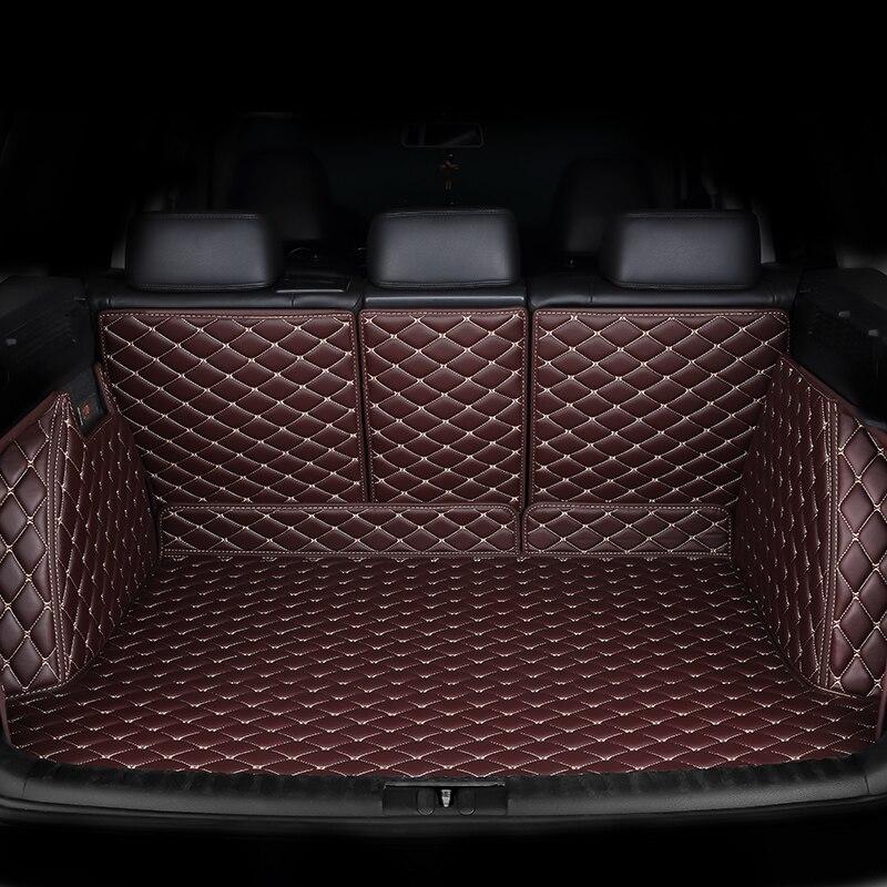 HeXinYan Personalizado esteiras mala do carro para Volkswagen todos modelo Variant Tiguan magotan Sagitar polo BORA Passat Touran