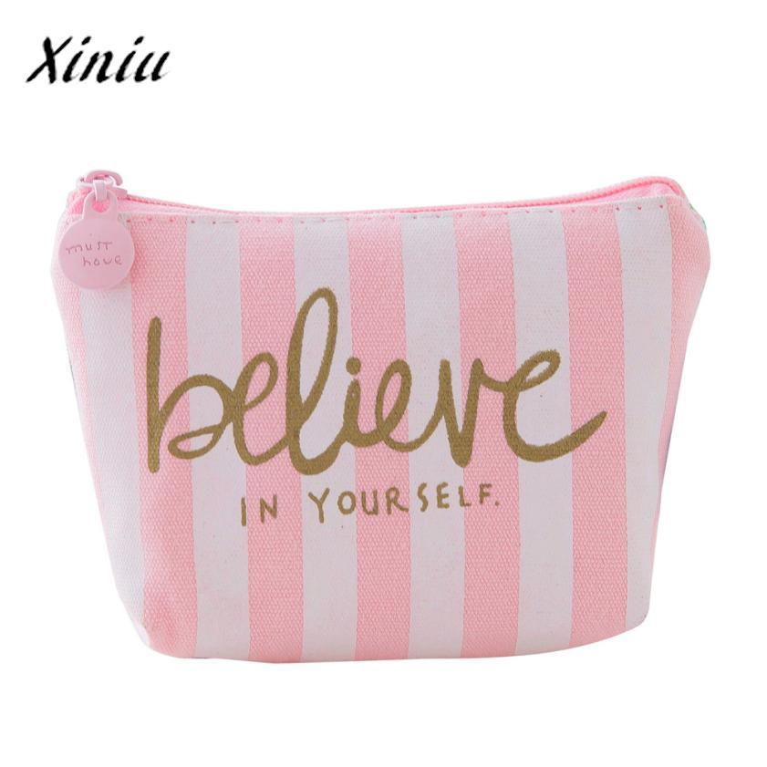 Girls Cute Coin Purse Stripes Print Snacks Mini Wallet Bag Canvas Zip Pouch Holder Monederos Mujer Monedas #8111 billetera sailor moon