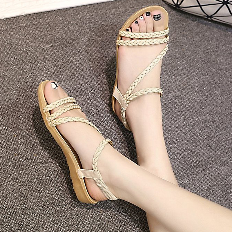 Flat Sandals Flip-Flops Casual Shoes Gladiator Women Fashion Mujer