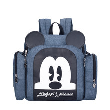 Authentic Disney Mickey Minnie Mommy Diaper Bags Mother Large Capacity Travel Nappy Backpacks Baby New Nursing
