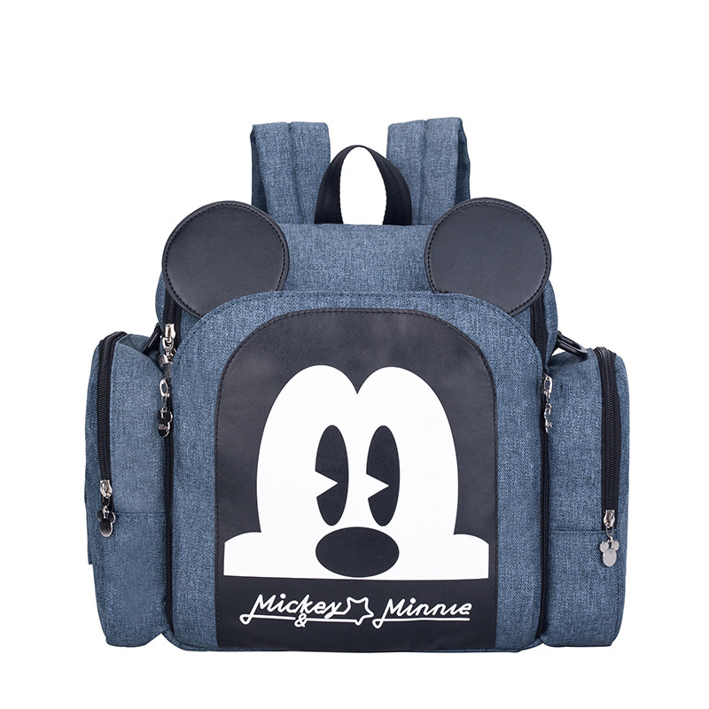 Authentic Disney Mickey Minnie Mommy Diaper Bags Mother Large Capacity Travel Nappy Backpacks Baby New Nursing Bags