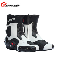 2016 New Microfiber Leather Motorcycle Boots Bikers Motorbike Motocross Racing Boot Shoes Motorcycle Boots