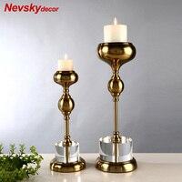 Home decoration candle candlesticks crystal Candle Holders stand candles home decoration For kitchen restaurant living room