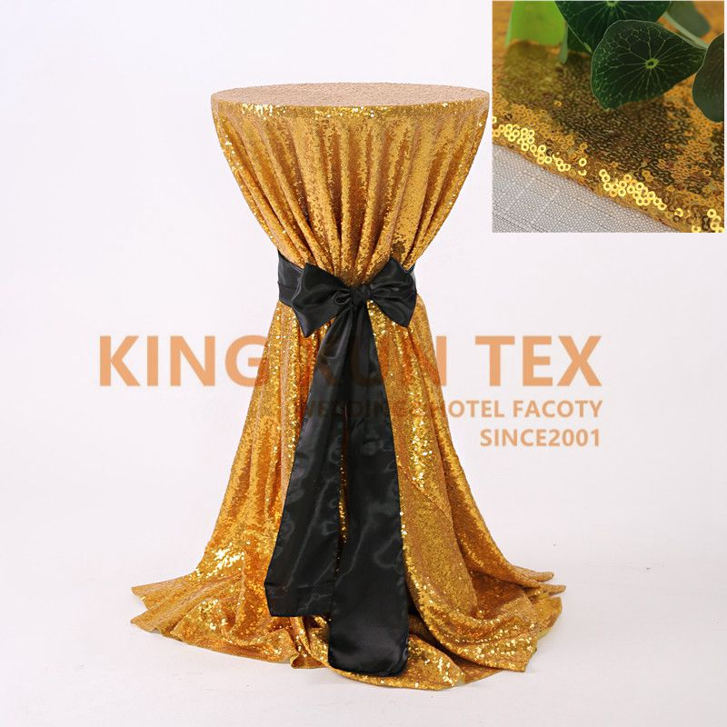 305cm Round Sequin Table Cloth Top Bar Cocktail Table Cover For Wedding Event Hotel Decoration
