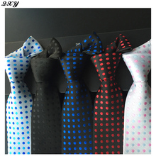 Brands mens fashion ties business polyester silk neckties for dot men tie casual dress vintage tie handkerchief B039