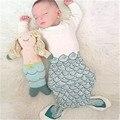 2017 Новых прибытия новорожденного ребенка пеленать конверты обернуть милый ребенок русалка сна мешок мультфильм хлопок bebes спальный мешок RP-054