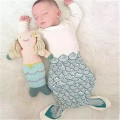 2017 New arrival newborn baby swaddle wrap envelopes cute baby mermaid sleep sack cartoon cotton bebes sleeping bag  RP-054