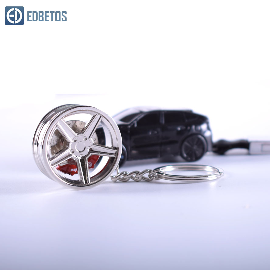 Zinc Alloy Car Styling Wheel Rim Key Ring with Brake discs jdm Key Ring Creative Keychain For Benz BWM Auto Part Model in Key Rings from Automobiles Motorcycles