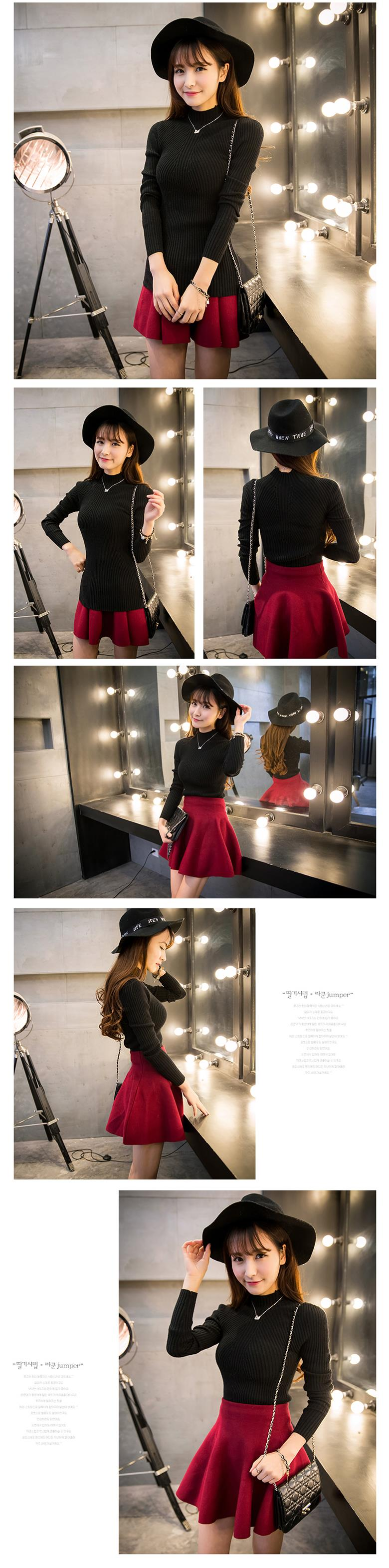 New 17 Spring Fashion Women sweater high elastic Solid Turtleneck sweater women slim sexy tight Bottoming Knitted Pullovers 26