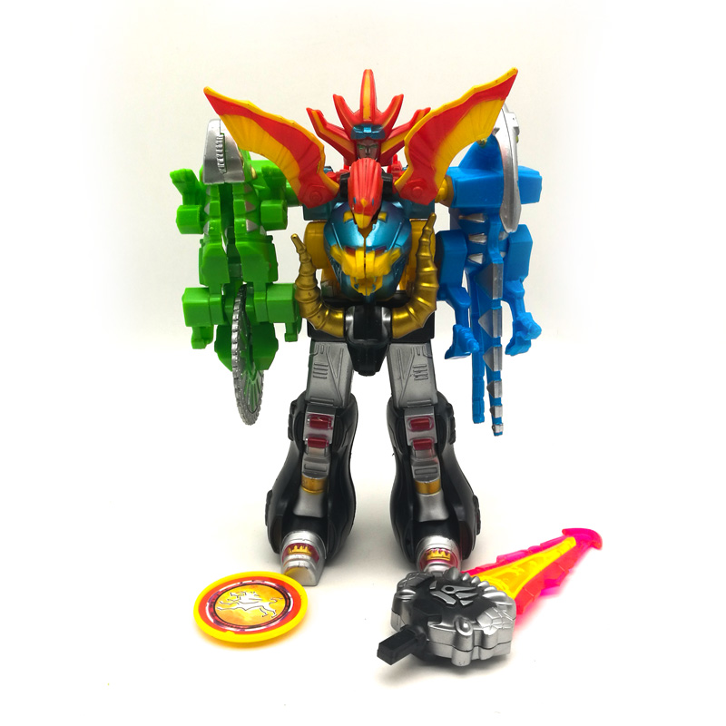 5 in 1 Assembled Dinozords Transformation Dinosaur Ranger Megazord Robot Action Figures Children Toys Gifts Megazords 5 in 1 assembly toys transformation robot dinosaur rangers megazord action figures kids christmas gifts