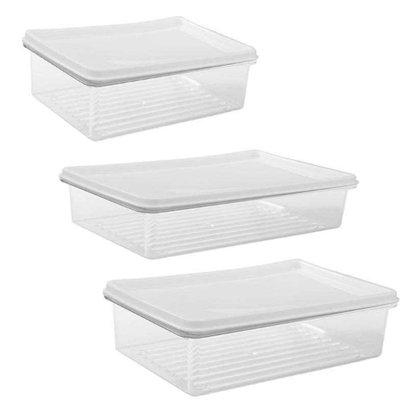 1pcs Multi-function Storage Boxes Food Keeping Fresh Box Sealed Crisper Organizer Refrigerator Holder Container Lunch Boxs