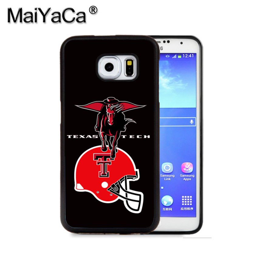 MaiYaCa TEXAS TECH RED RAIDERS COLLEGE Phone Case For Samsung S9 S8 Plus S7 S6 Edge Plus Note 8 7 5 S5 S4 Print Rubber Cases