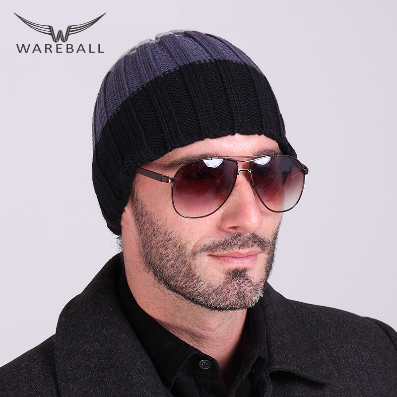 2016 Beanies Knitted Hat Men's Winter Hats For Women Men Caps Gorros Warm Moto Fur Winter Beanie Fleece Stripe Knit Bonnet Hat brand beanies knit men s winter hat caps skullies bonnet homme winter hats for men women beanie warm knitted hat gorros mujer