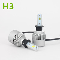 H3 CSP Led Headlight Single Beam Car Led Headllamp Bulb 6500K 9600LM Auto Lights Source For