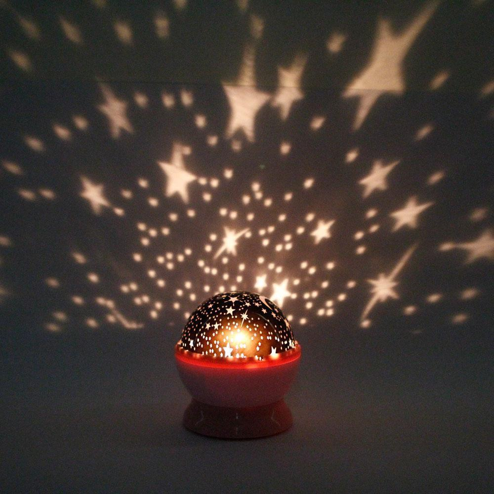 New Rotation Night Lights Lamps Star Sky Projector Fairy Led Light Master Lamp Baby Gifts Stars Cosmos Lighting In From