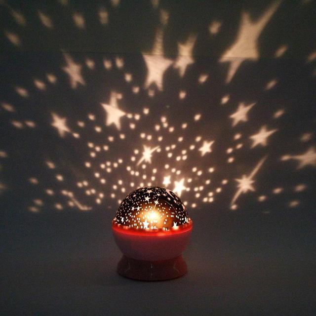 New Rotation Night Lights Lamps Star Sky Projector Romantic Fairy