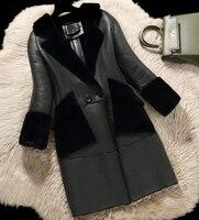 ZiZhen зима реальные натурального меха ягненка пальто двусторонний меховые пальто Для женщин Натуральная овечья кожа пальто продвижение 180716