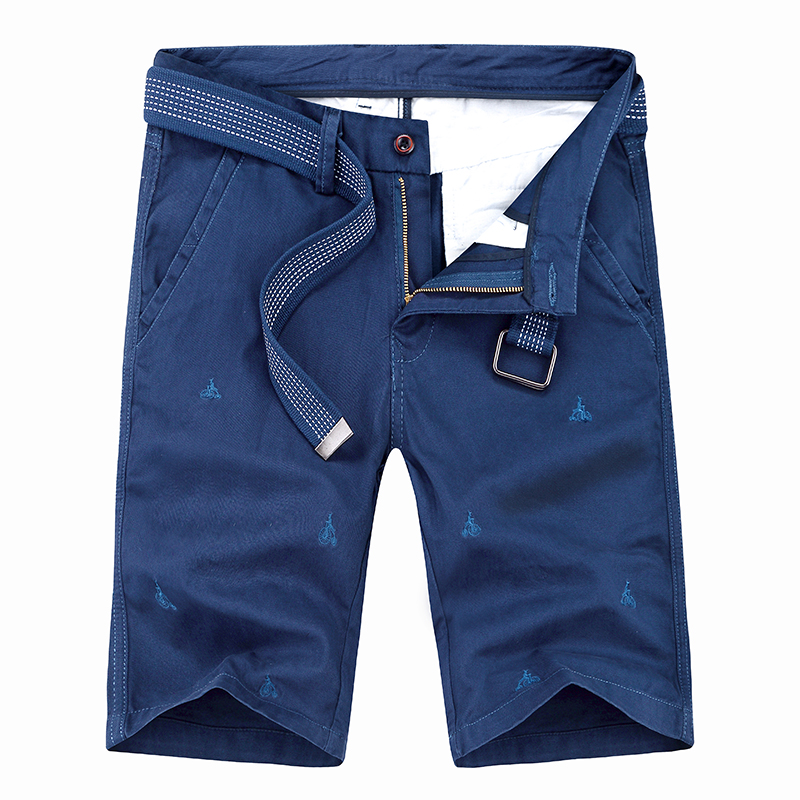 Muls Male Shorts Panties Cargo Men Summer Casual 100%Cotton Brand Character Embroidery